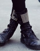 studded worker boots