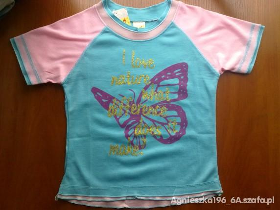 Koszulki, podkoszulki KOSZULKA DZIEWCZĘCA NOWA ROZM 122