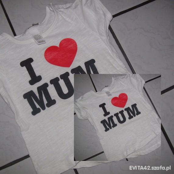 Koszulki, podkoszulki Cudna bluzeczka I love mum rozm 86 firmy HM