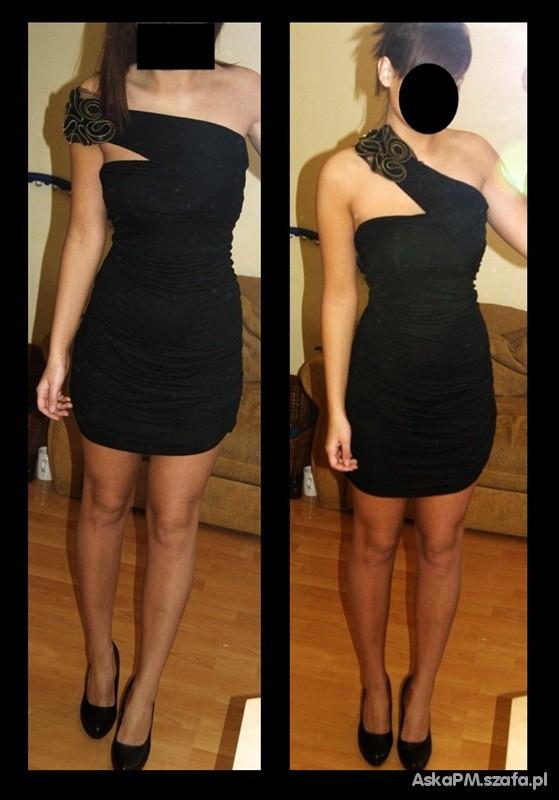Bandage bandażowa sukienka asymetryczna L