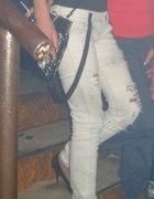 Spodnie bershka szelki