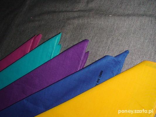 Chusty i apaszki GŁADKA BANDANA niebieska żółta turkusowa różowa