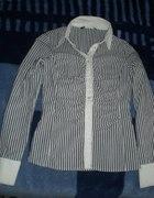 Koszula w szare prążki