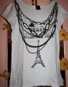 tshirt glam rock z łańcuchami