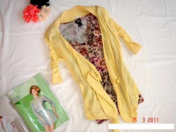 Swetry piękna cytrynowa narzutka r38 40 new look