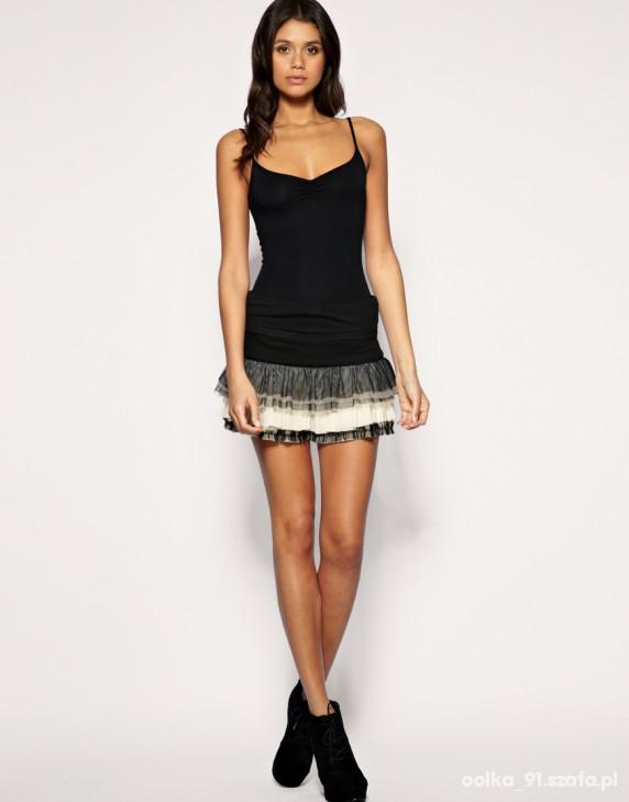 ASOS Jersey And Mesh Rara Skirt...
