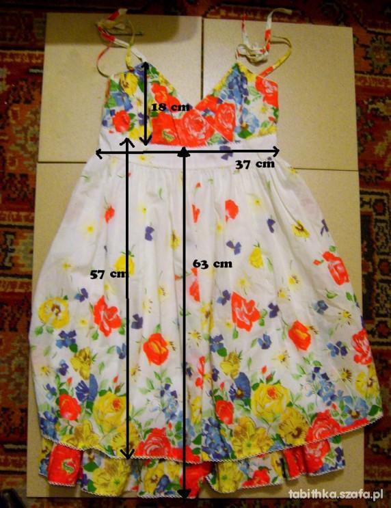 sukienka 38 w kwiaty