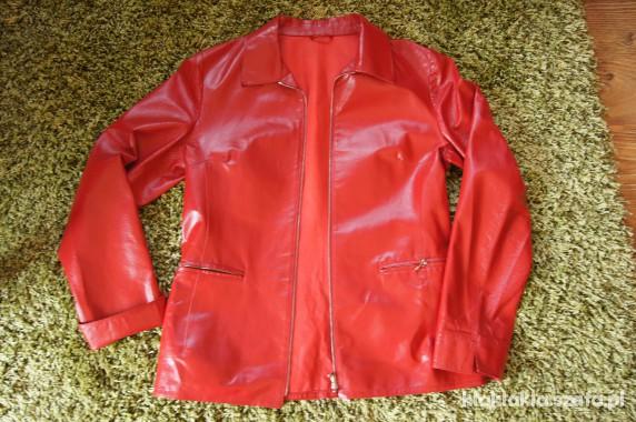 a969111bf1441 Odzież wierzchnia kurtka skóra naturalna czerwona vera pelle włoska