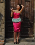 Rózowa sukienka