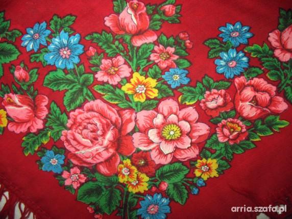 Chusty i apaszki Floral czerwona