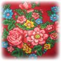 Floral czerwona