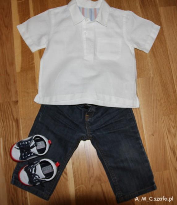 Koszulki, podkoszulki koszula lniana dla małego eleganta