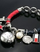 TOMMY HILFIGER zegarek srebrny Charms TH