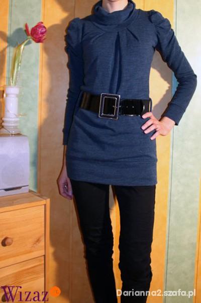 Eleganckie Granatowa bluzka