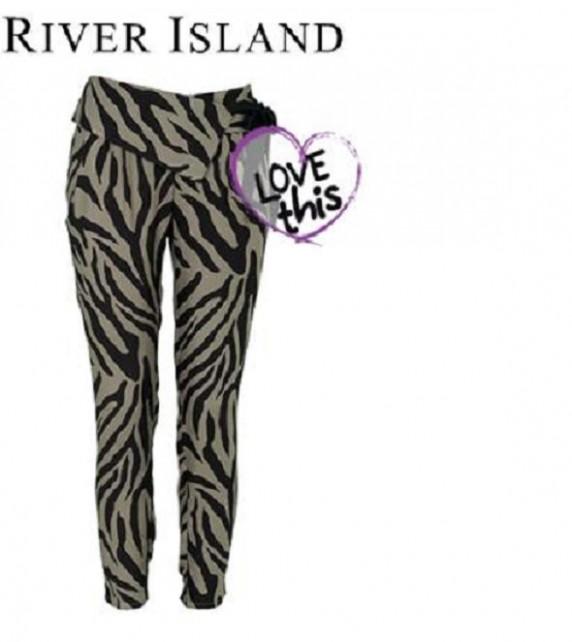Alladynki rurki River Island zebra...