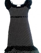 sukienka czarna w białe kropki