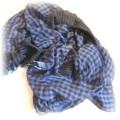 Niebiesko czarna apaszka