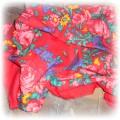 czerwona w kwiaty folk etno hippie