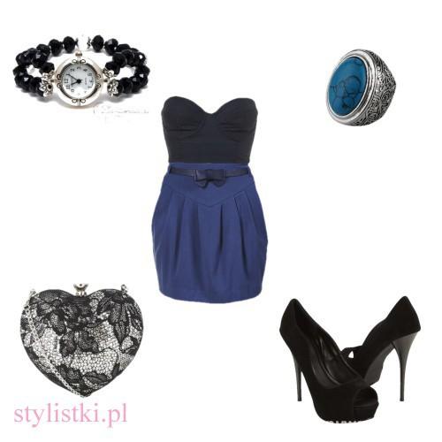 Eleganckie Dark blue