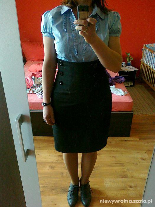 Eleganckie spódniczka z wysokim stanem