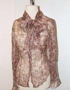 Jedwabna bluzka Monnari z kokardą