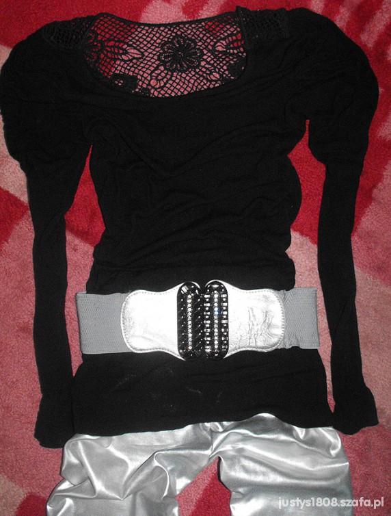 czarny & srebrny