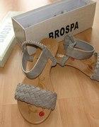 Szare sandałki 37 NOWE z pudełkiem