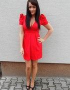 czerwona sukienka