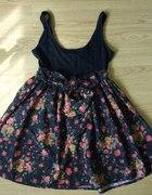 Sukienka flora z szarfą XS