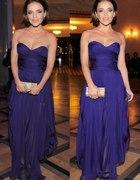 fioletowa suknia