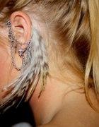 Pióra piórkowe z piór kolczyki na ucho