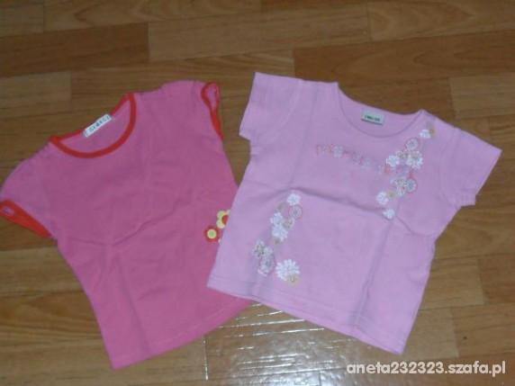 Koszulki, podkoszulki 2 koszulki dla dziewczynki