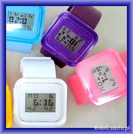 Zegarki Z PRZESYLKA jelly zegarki LED japan styl MIX kolor
