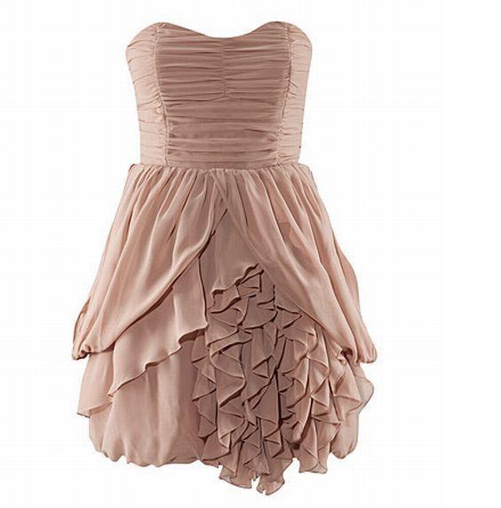 Sukienka koronkowa pudrowy róż H M Rozm M w Suknie i