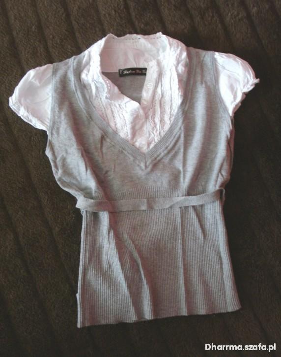 Biała koszula z kamizelka 2 w 1