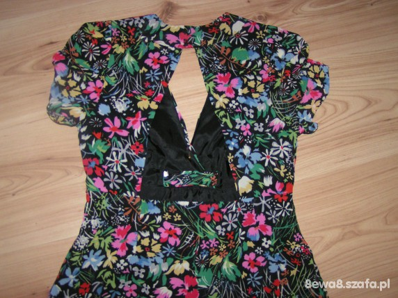 TOP SHOP PETITE SUPER SUKIENKA FLORAL 36