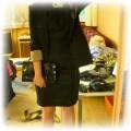 Czarna sukienka z różą