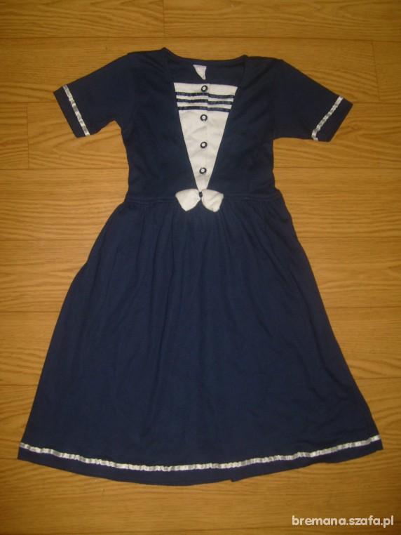 d1af402df9 Sukienki i spódniczki Sukienka marynarska lub szkolna rozm 128 do 134 w