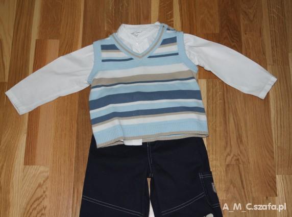 Komplety kamizelka i koszula dla eleganckiego małego mężczy