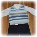 kamizelka i koszula dla eleganckiego małego mężczy