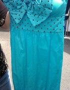 Niebieska sukienka kokarda