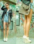 Ramoneska ogrodniczki panterka koturny