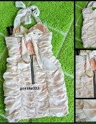 Marszczona Sukienka z Zipem