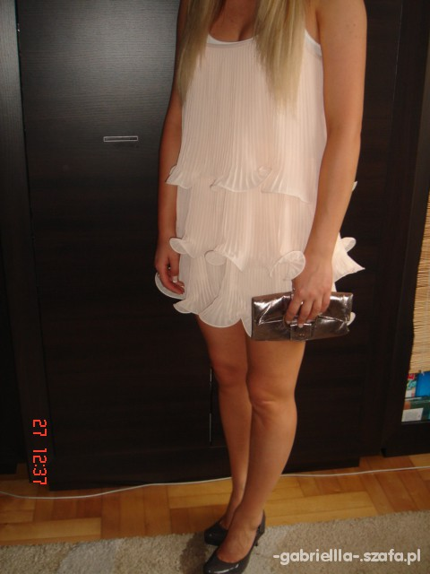 Na specjalne okazje Pudrowa sukienka H&M