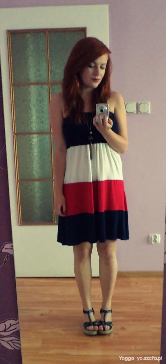Romantyczne Moja ulubiona marynarska sukienka