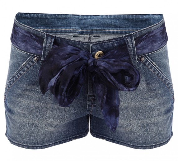 Jeansowe szorty and pasek TALLY WEIJL...