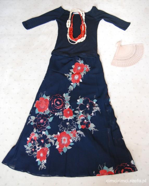 Romantyczne spódnica w kwiaty