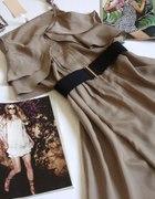 beżowa letnia sukienka lato 2011 cappucino