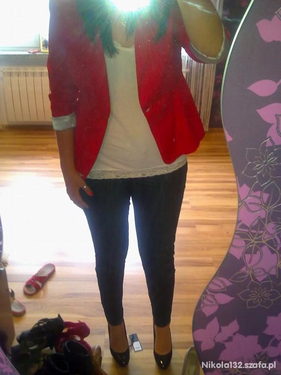Mój styl Czerwona marynarka