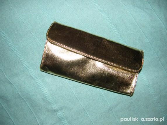 276e7071780aa złota torebka metaliczna kopertówka duża w Torebki wieczorowe - Szafa.pl